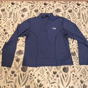 North face zip-up blue pullover layer